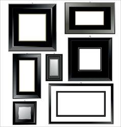 black frames vector image vector image