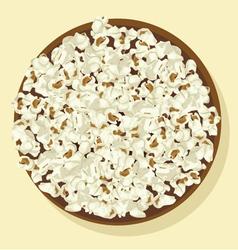 Bowl of popcorn vector image