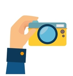 Camera digital photography hand vector
