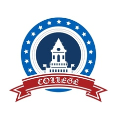 College emblem vector
