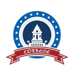 College emblem vector image vector image