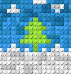Color constructor blocks vector image