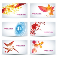colorful businesscard templates vector image
