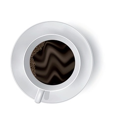 Cup of coffee on the white vector image