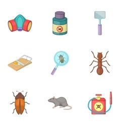 Disinfection icons set cartoon style vector
