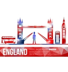 England travel background with place for text vector image