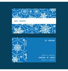 Falling snowflakes horizontal stripe frame pattern vector