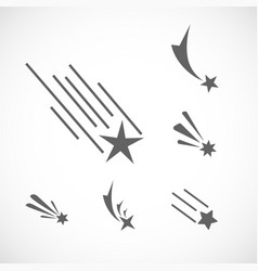 Falling star icon set set of different star icons vector