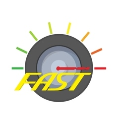 Fast meter icon cartoon style vector