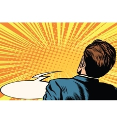 frightened man back vector image vector image