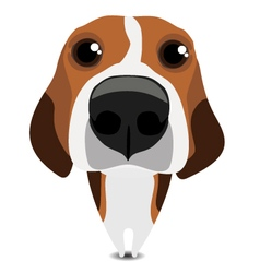 Funny sad beagle vector
