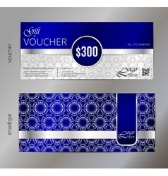 Gift voucher template with vector