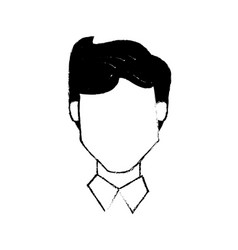 Head male people character vector