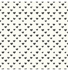 hearts pattern black vector image vector image