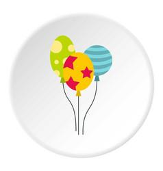 Holiday balls icon circle vector