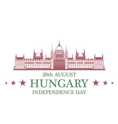 Independence Day Hungary vector image
