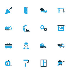Industry colorful icons set collection of tip vector