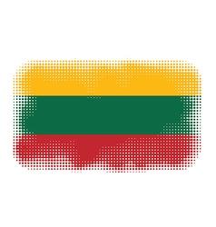 lithuania flag halftone vector image vector image
