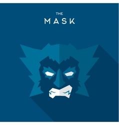 Mask Hero superhero flat style icon logo vector image vector image