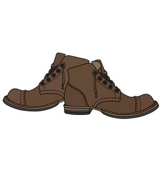 Old lacing shoes vector