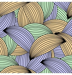 Seamless white and black pattern vector image