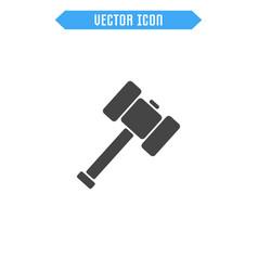 sledgehammer icon flat hammer icon vector image vector image
