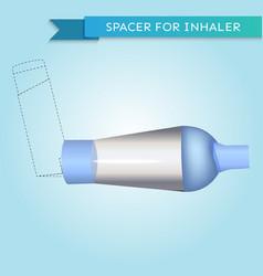 Spacer for inhaler in vector