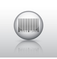 Sphere with barcode vector image