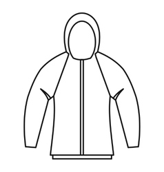 Sweatshirt icon outline style vector