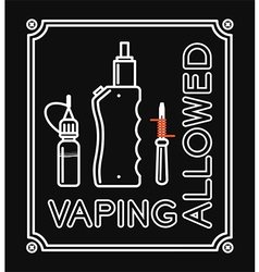 Vape banner with text vaping allowed vector