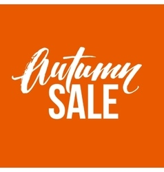 Autumn sale lettering fall calligraphy design vector