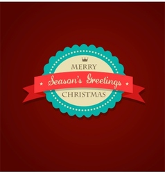 Christmas vintage background with sticker and vector image