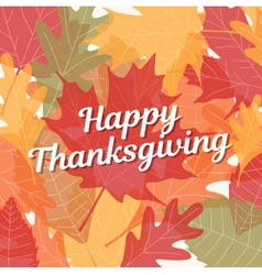 Thanksgiving card with background autumn leaves vector