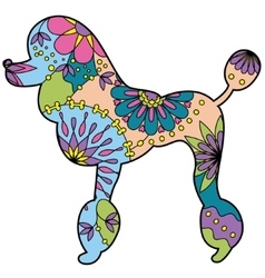 Poodle colorful silhouette vector