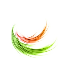 abstract smoke green red vector image