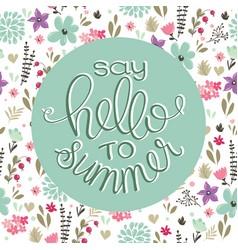 Summer logo design for banner poster cover vector