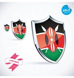 I love kenya flag vector