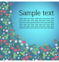 Vignette for text with leaves and raspberry vector