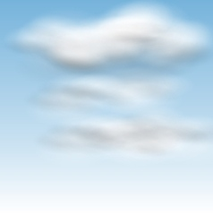 Background blue sky fluffy clouds vector