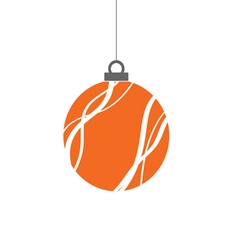 Christmas ball color vector