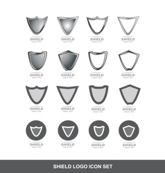 Shield logo icon set vector