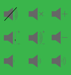 Set sound icons vector