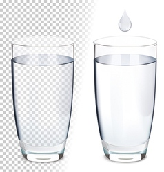 Glass of water vector