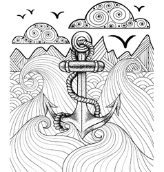 Zentangle print for adult coloring page vector