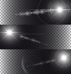 Flare lights isolated on transparency background vector