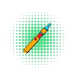 Electronic cigarette icon comics style vector