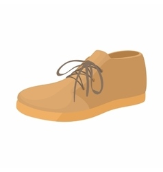Brown boot icon in cartoon style vector