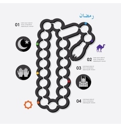 Ramadan infographic vector