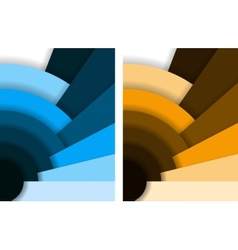 Abstract fan background vector image