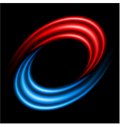 Abstract swirl sign on black background vector